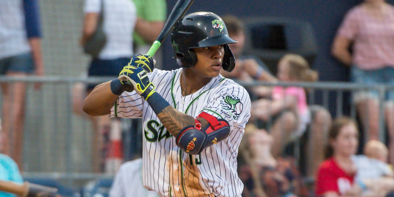Cristian Pache homers twice in Gwinnett doubleheader; Joey Estes strikes out 10 for Augusta